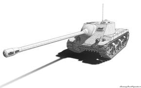 Картинка танк, пушка, wot, tank, Т25АТ, Т25_АТ, T25AT, Т25 АТ, T25 AT, t25, T25_AT