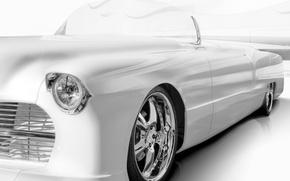 Картинка фон, Cadillac, классика, передок, кадиллак, 1955