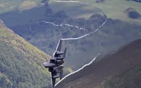 Картинка авиация, волна, воздух, самолёты, F15CreatingTurbulence