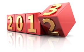 Картинка кубики, новый год, цифры, куб, new year, 2013