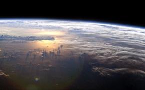 Обои вода, облака, атмосфера, Земля