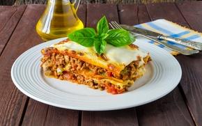 Картинка тарелка, мясо, овощи, meat, second dishes, лазанья