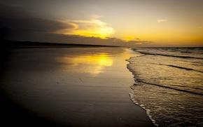 Картинка море, небо, облака, пейзаж, природа, sky, sea, landscape, nature, clouds, beautiful sunrise scene, красивая сцена …
