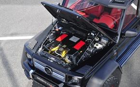 Картинка Mercedes-Benz, AMG, G63, Engine, Brabus 700 6x6