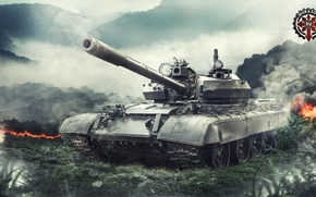 Картинка Игры, СССР, Games, Art, World of Tanks, FuriousGFX, T55AM, Т55АМ