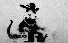 Картинка Graffiti, Banksy, Rap Rat