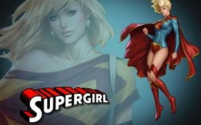 Картинка блондинка, blonde, superhero, DC Comics, Supergirl, Супергёрл