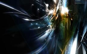 Обои Взрыв, энергия, искры, поток