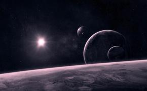 Картинка космос, планеты, космические тела