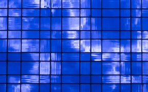Обои синева, блоки, текстура, прямоугольники