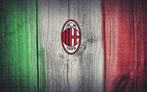Обои flag, Italy, A.C Milan
