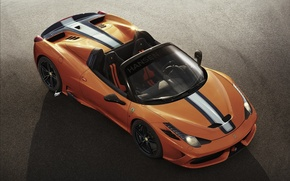 Картинка Ferrari, Orange, 458, Spider, Supercar, 2015, Speciale A, Hansen ART