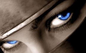 Картинка глаза, взгляд, синий