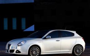 Картинка белый, giulietta, Alfa romeo