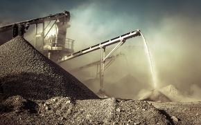 Картинка dirt, rocks, dust, mining, conveyor