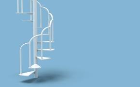 Обои интерьер, ступени, винтовая лестница