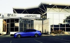 Картинка бмв, BMW, wheels, side, blue, 335i, vossen, 3 серия, f30