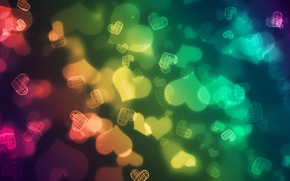 Обои цвет, сердечки, сердца