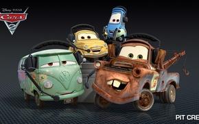 Картинка мультфильм, тачки, pixar, disney, pit crew