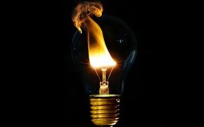 Обои огонь, обои, лампа