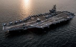 Картинка корабль, армия, флот, USS Ronald Reagan (CVN 76)