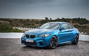 Картинка бмв, купе, BMW, синяя, F87