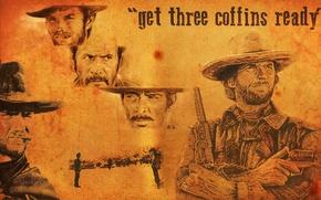 Картинка злой, вестерн, плохой, Клинт Иствуд, Хороший, Clinton Eastwood, The Good the Bad and the Ugly