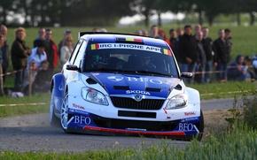 Картинка Авто, Спорт, Люди, Капот, WRC, передок, Rally, Ралли, Skoda, Fabia, Фабия, Шкода