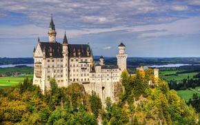 Картинка лес, замок, красота, forest, beautiful, castle