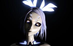 Картинка девушка, механизм, робот, арт, vocaloid, вокалоид, Phosphorescent Rin