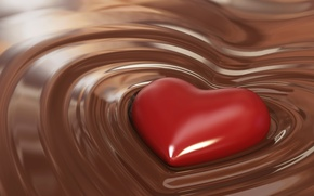 Картинка сердце, шоколад, вкусно