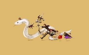 Картинка змея, минимализм, аниме