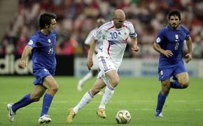 Картинка Франция, Спорт, Футбол, Италия, Легенда, Zinedine Zidane, Зизу, Финал, Зинедин Зидан, World Cup 2006, Чемпионат ...