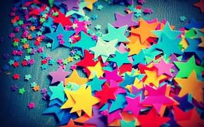 Обои большие, маленькие, звёздочки, цветные