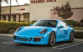 Картинка 911, Porsche, Blue, Carrera