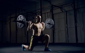 Картинка legs, crossfit, squat, barbell