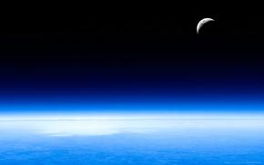 Обои луна, Небо, атмосфера