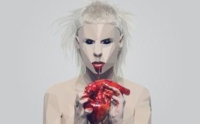 Картинка blood, heart, Die Antwoord, Yolandi Visser
