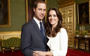 Обои royal wedding, Kate Middleton, Принц Уильям, Prince William, Кейт Миддлтон, королевская свадьба