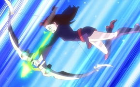 Картинка девушка, оружие, фантастика, настроение, мультфильм, аниме
