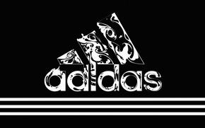 Картинка Черный, Полосы, Стиль, Фон, Адидас, Логотип, Adidas