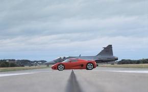 Обои Koenigsegg, Красный, Самолет