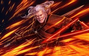 Картинка art, Gwynbleidd, CD Projekt RED, The Witcher 3: Wild Hunt, Wild Hunt, Geralt, geralt of ...