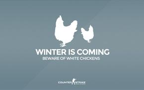 "Картинка CS GO, Counter Strike Global Offensive, Серия ""CS GO Situation"", Beware of white chickens, Winter …"
