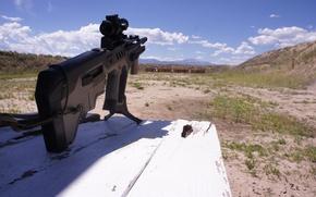 Обои штурмовая, винтовка, Тавор, TAR-21, стрельбище, автомат