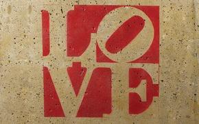 Обои любовь, буквы, стена, надпись, текстура, love, буква, слово