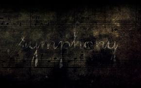 Обои ноты, симфония