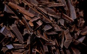 Картинка сладость, шоколад, текстура, стружка
