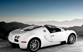 Обои белый, Бугатти, Bugatti, Вейрон