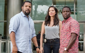 Обои кадр, Ice Cube, Olivia Munn, Оливия Манн, Kevin Hart, комедия, Ride Along 2, Кевин Харт, ...